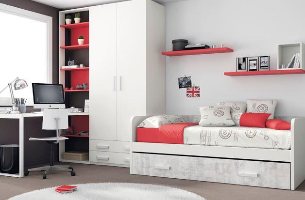 dormitorio-juvenil-blanco-rojo