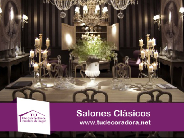 Salones Clásicos Decoradora Yecla