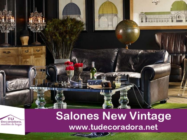 Salones new vintage decoradora