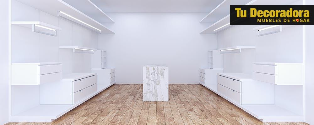 distribucion del espacio en el vestidor - tu decoradora yecla