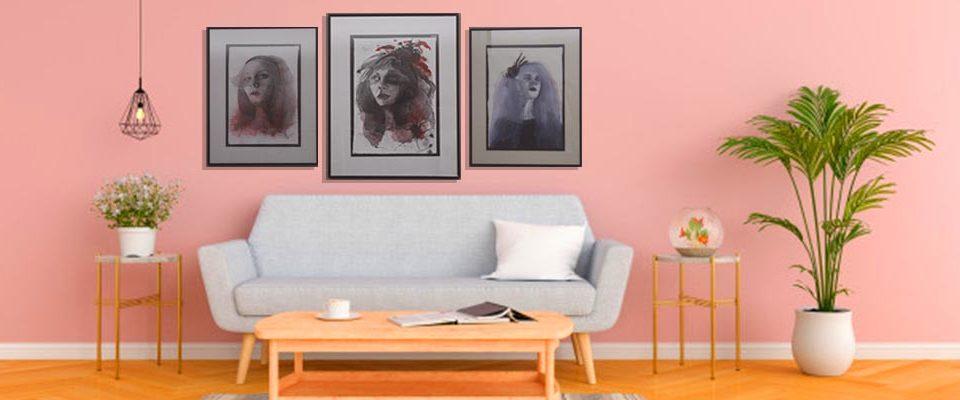 ideas para decorar salon con cuadros - tu decoradora yecla