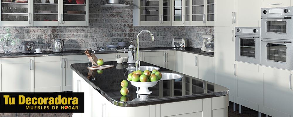 decoracion de cocina de isla con lavaplatos - tu decoradora yecla